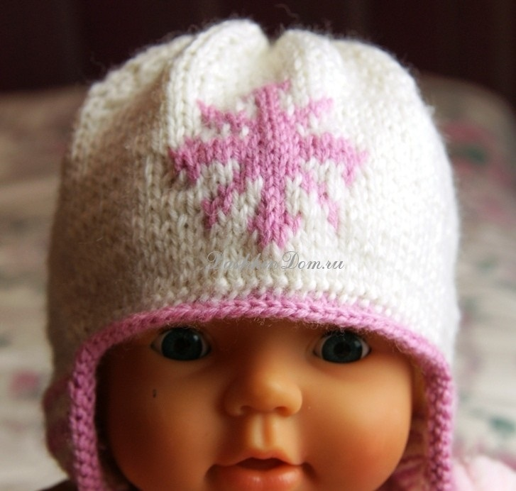 вязаная шапочка для девочки своими руками 014