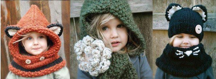 вязаная шапочка для девочки своими руками 015