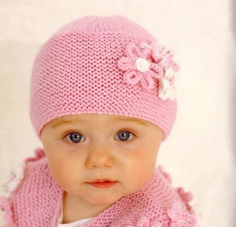 вязаная шапочка для девочки своими руками 016