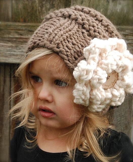 вязаная шапочка для девочки своими руками 018