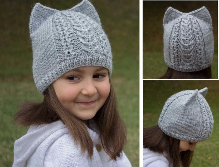 вязаная шапочка для девочки своими руками 020
