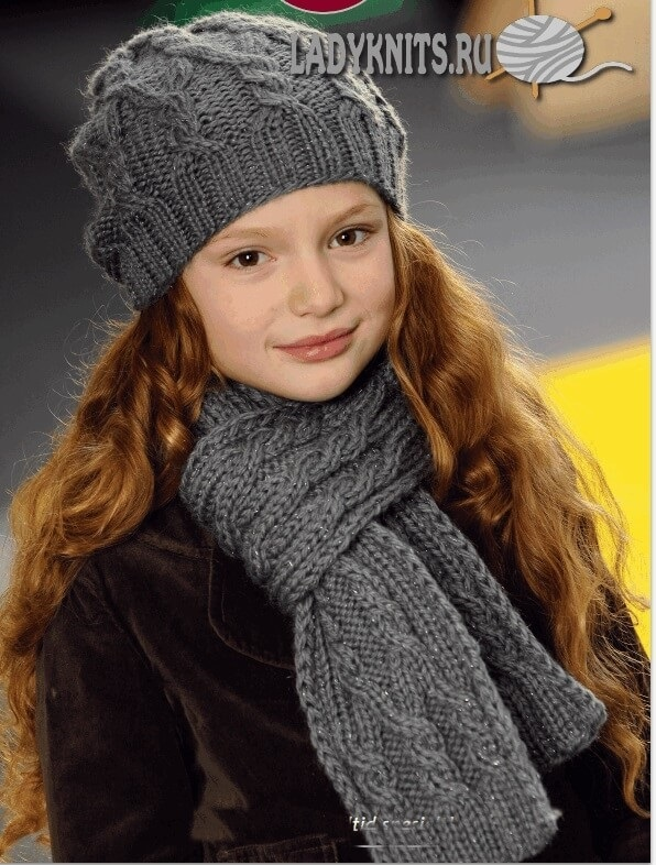 вязаная шапочка для девочки своими руками 022