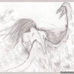 Картинки ангелы карандашом — срисовки для детей