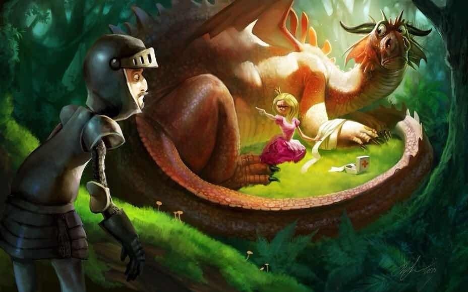 картинки принцесса и дракон 005