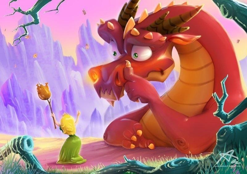картинки принцесса и дракон 010