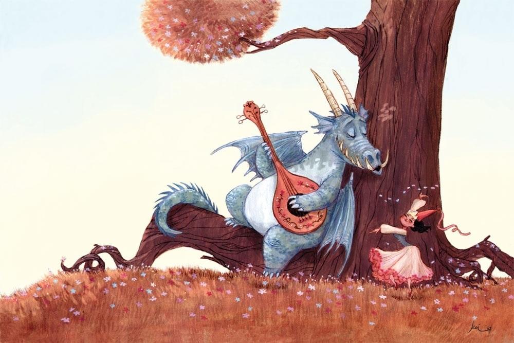 картинки принцесса и дракон 015