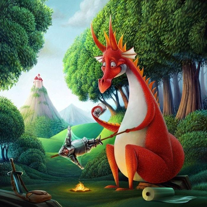 картинки принцесса и дракон 016