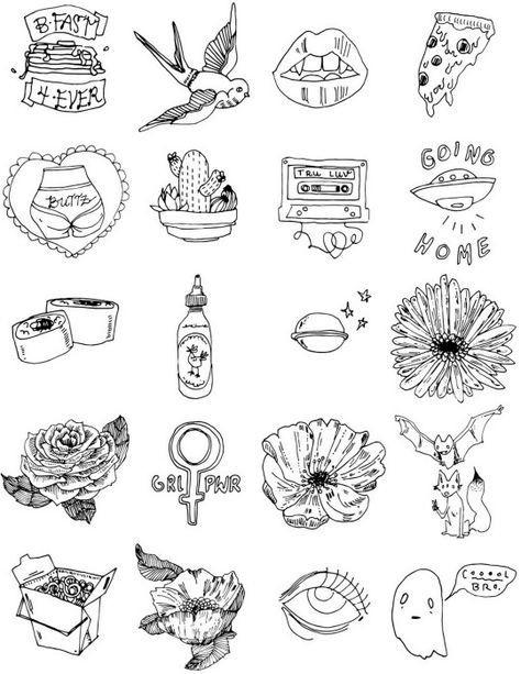 маленькие рисунки для тату 015