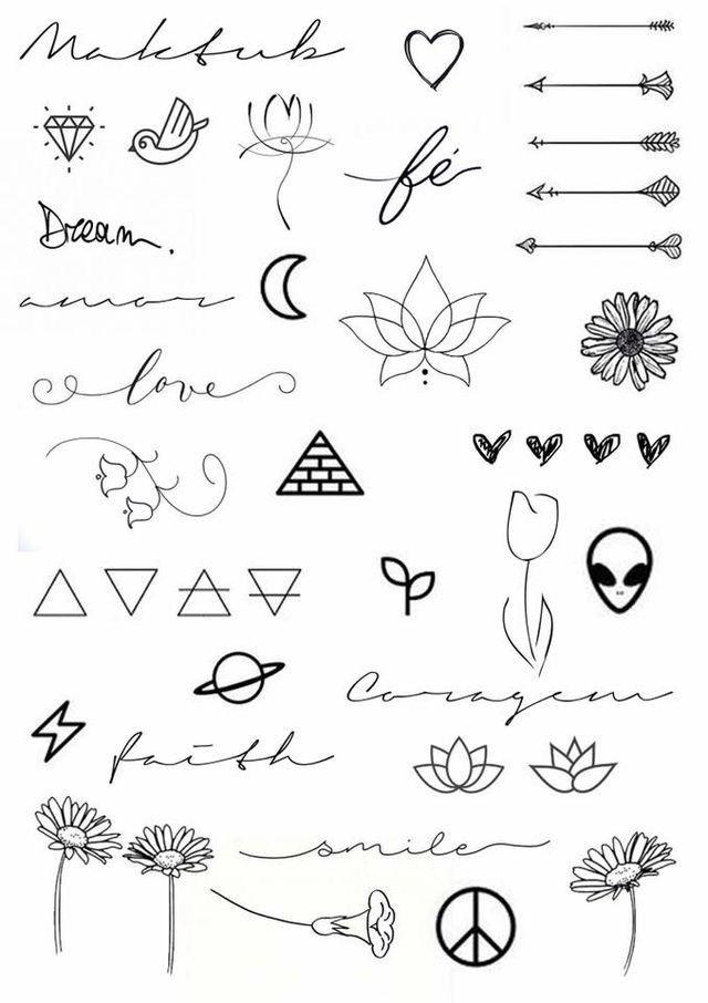маленькие рисунки для тату 016