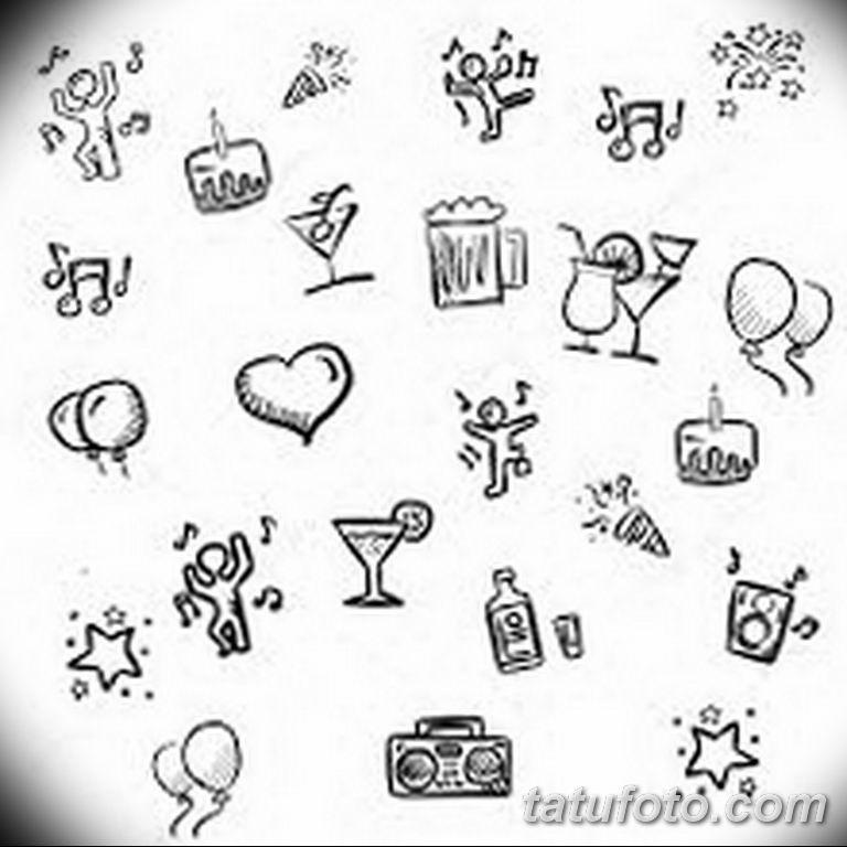 маленькие рисунки для тату 017