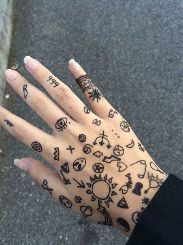 маленькие рисунки для тату 018