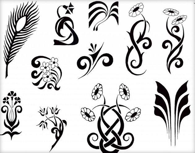 маленькие рисунки для тату 019
