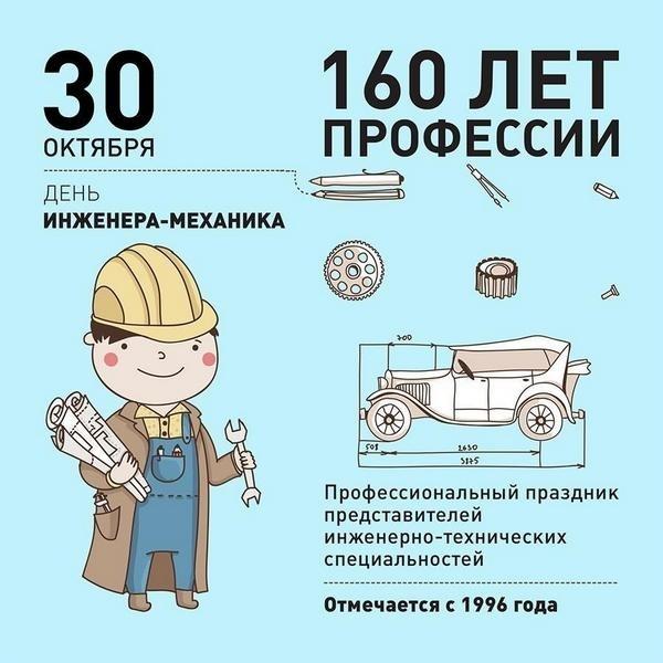30 октября День инженера механика 23 056 010