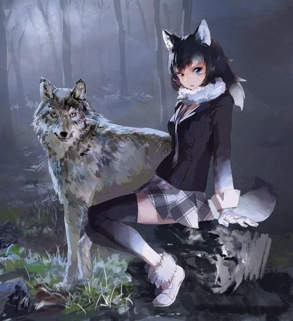 Аниме арт волка 017