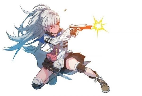 Арт аниме девушки с оружием 001