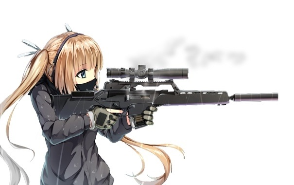 Арт аниме девушки с оружием 002