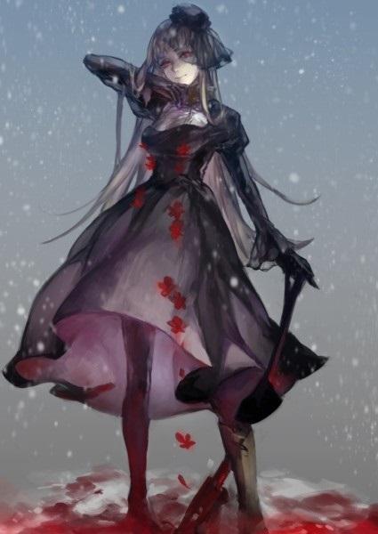 Арт аниме девушки с оружием 003