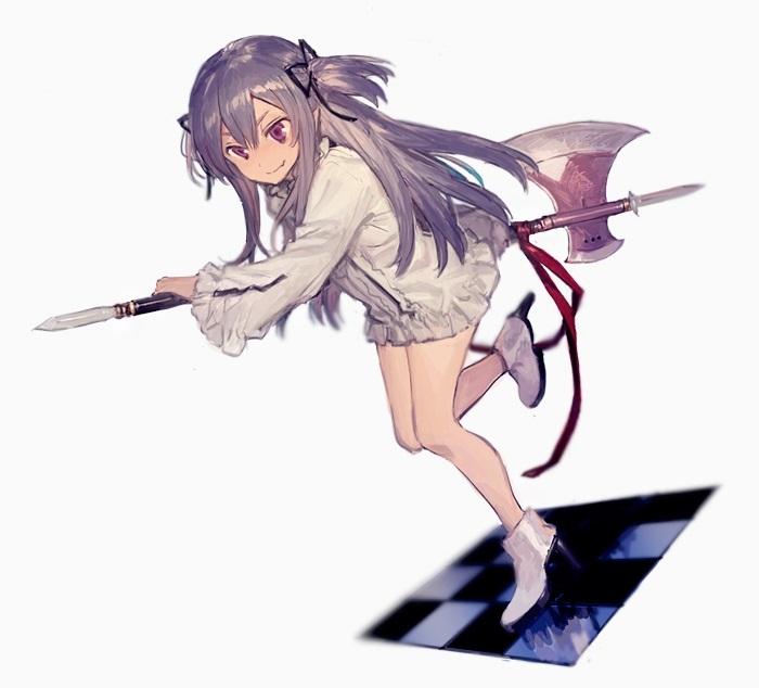 Арт аниме девушки с оружием 012