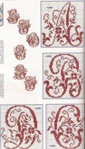Вензеля схемы вышивки крестом 023