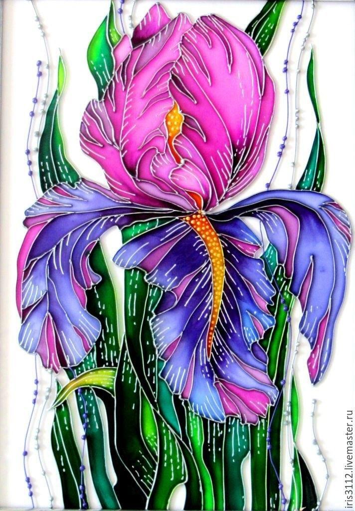 Витражная роспись по стеклу картинки шаблоны цветные 021