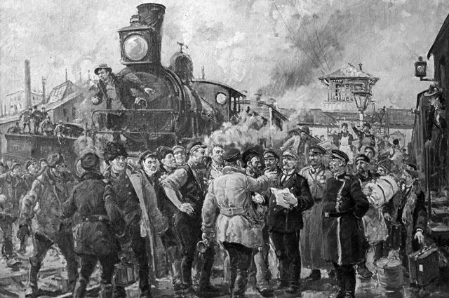 В России объявлено о введении 7 часового рабочего дня (1929) 014