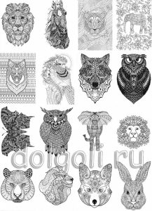 Графические рисунки животные 016