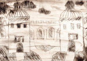 Графический рисунок города 020
