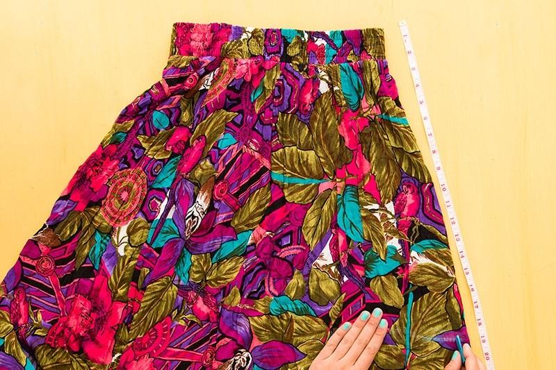 Детский сарафан из старой юбки 001