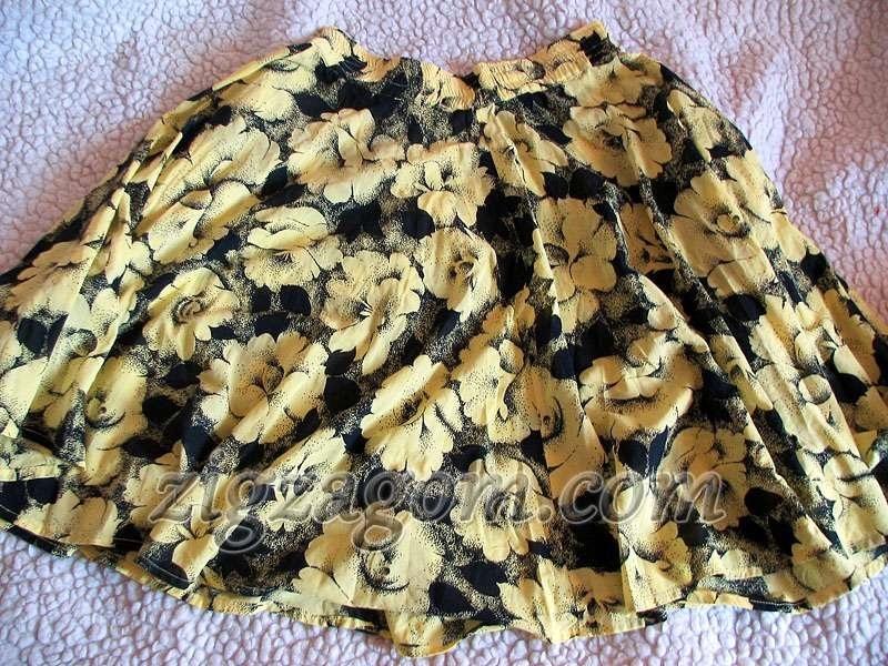 Детский сарафан из старой юбки 003