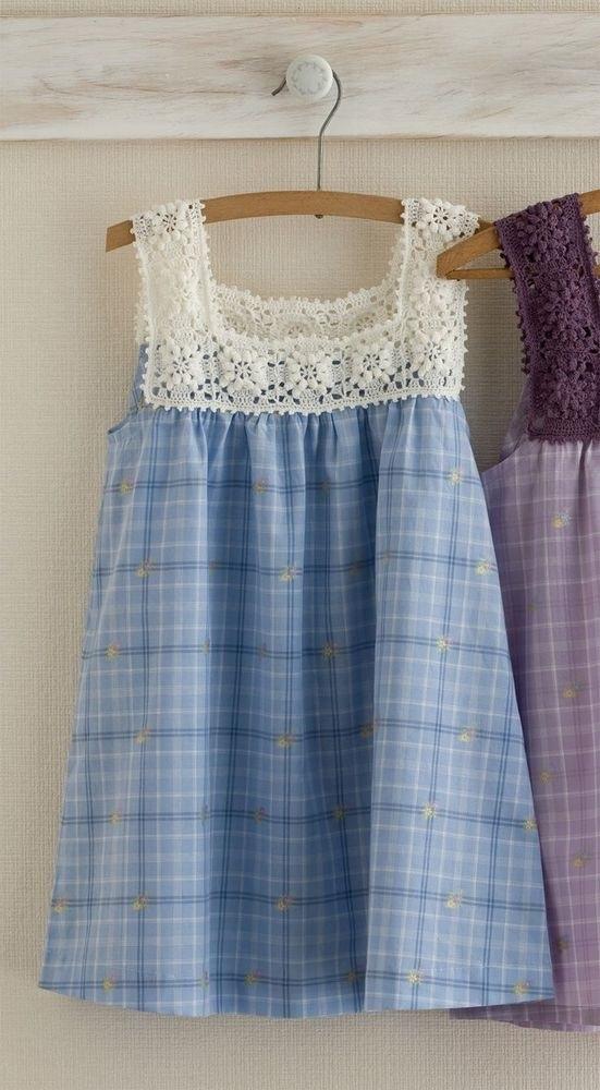 Детский сарафан из старой юбки 012