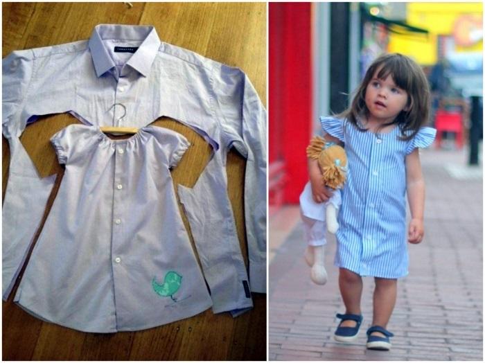 Детский сарафан из старой юбки 013
