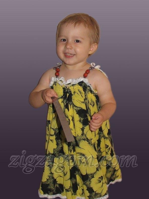 Детский сарафан из старой юбки 014