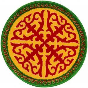 Казахский круглый орнамент 020