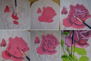 Как нарисовать цветы на доске 021