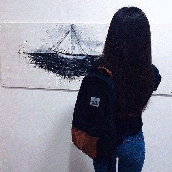 Картинки девушек с черными волосами без лица на аватарку009