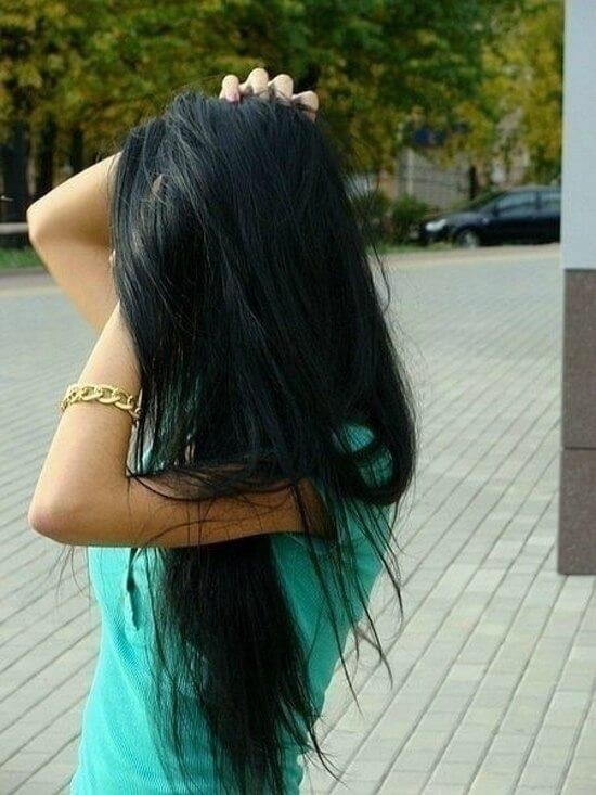 Картинки девушек с черными волосами на аватарку без лица006