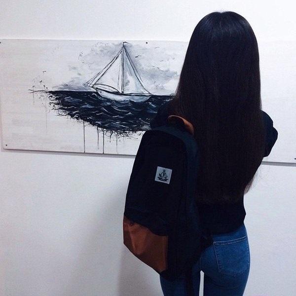 Картинки на аватарку без лица девушки с темными волосами013