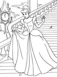 Картинки принцессы рисунки раскраски 024