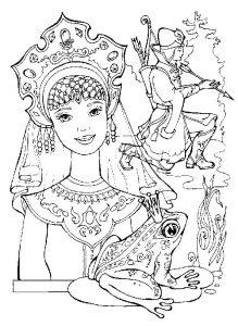 Картинки раскраска малахитовая шкатулка016