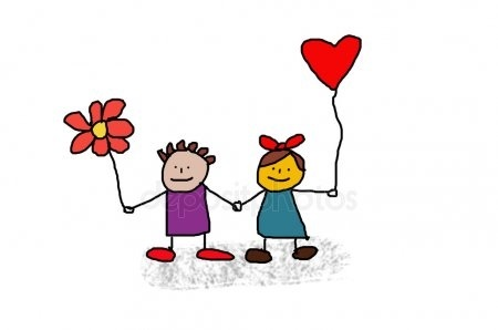 Картинки рисованные пара влюбленных 001