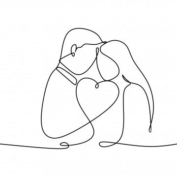 Картинки рисованные пара влюбленных 002