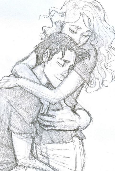 Картинки рисованные пара влюбленных 013