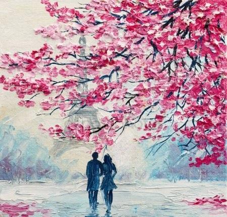 Картинки рисованные пара влюбленных 016