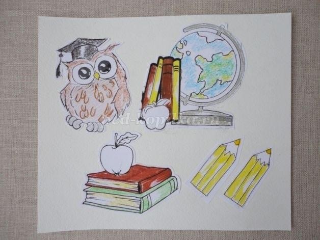Как нарисовать открытку к дню учителя 1 класса