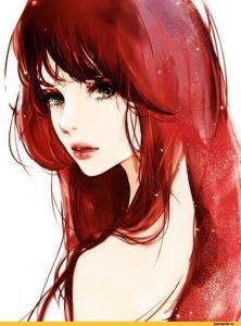 Красивые арты девушек с темными волосами 022