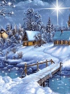 Красивые заставки на телефон зима скачать бесплатно009