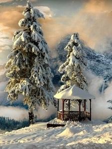 Красивые заставки на телефон зима скачать бесплатно012