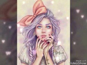 Красивые иллюстрации девушки 022