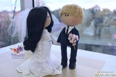 Куклы свадебные ручной работы 005