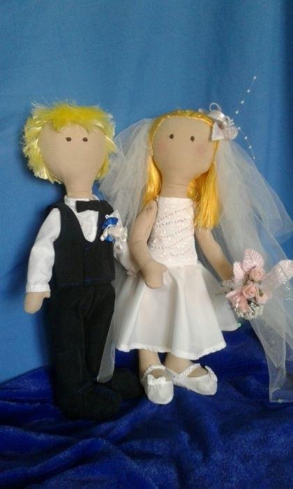 Куклы свадебные ручной работы 006